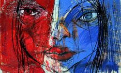 Frankreich, Mixed Media, 60 x 42 cm, Oxana Mahnac