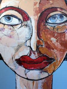 Hexse, 100 x 100 cm, Acryl auf Leinwand, Oxana Mahnac