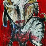 Bissige Hündin, Mixed Media, 60 x 42 cm, 2011
