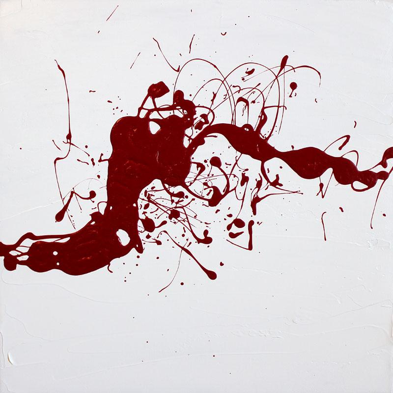 Abstrakte Malerei (03), Acryl auf Leinwand,10 x 10 cm, Oxana Mahnac, 2014