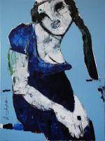 Neues Kleid, 80 x 60 cm, Acryl auf Leinwand, Oxana Mahnac