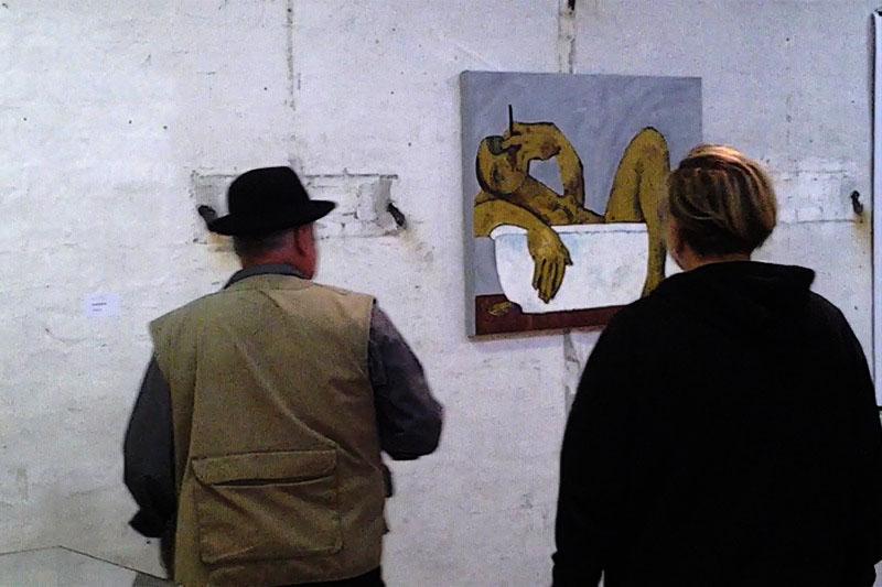 "Im Bad, Kunstfestival ""KUNST AM SPREEKNIE"", Oxana Mahnac, 2013, Berlin"