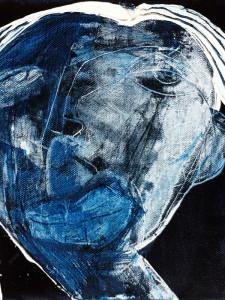 Portrait (mini), Akryl auf Leinwand, 20 x 20 cm, Oxana Mahnac