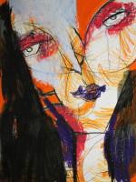 Luise, Mixed Media, 60 x 42 cm, Oxana Mahnac
