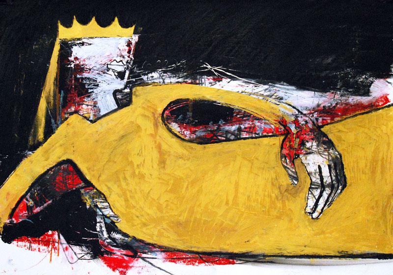 Queen, Mixed Media, 42 x 60 cm, Oxana Mahnac, 2011