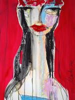 Russische Braut, Mixed Media, 60 x 42 cm, Oxana Mahnac (sold)