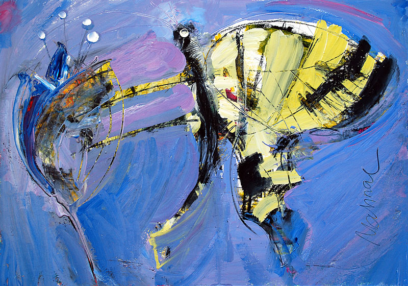 Schmetterling, 42 x 60 cm, Mixed Media, Oxana Mahnac (sold)