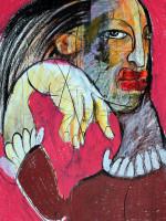 Sklave, Mixed Media, 60 x 42 cm, Oxana Mahnac