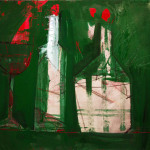 Wein, 42 x 60 cm, Mixed Media auf Papier, Oxana Mahnac (sold)