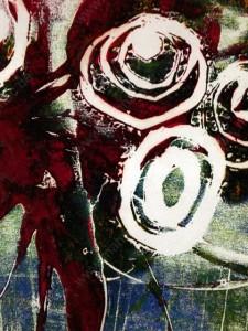 Rosen, abstraktte Monotypie, Oxana Mahnac, 2008