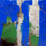 Abstraktes Stilleben, 40 x 50 cm, Acryl auf Leinwand, Oxana Mahnac, 2012