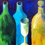 Gelbe Flasche, 50 x 40 cm, Acryl auf Leinwand, Oxana Mahnac, 2012